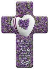 Preisvergleich Produktbild Kreuz: Der Herr erfüllt mein Herz-Geschenk Kommunion, Konfirmation Taufe