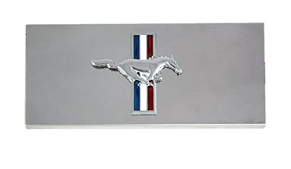 2005-2009 ford mustang & gt-500 polished stainless steel fuse box cover  with running horse emblem: amazon co uk: car & motorbike