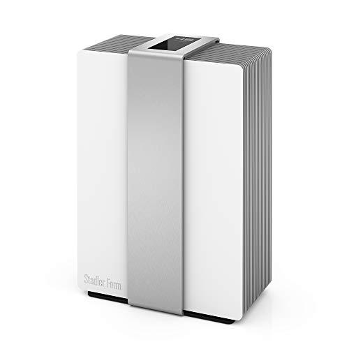 Stadler Form Design Luftwäscher Robert [Luftbefeuchter /-reiniger, Bewegungssensor, 4 Leistungsstufen], weiß/silber