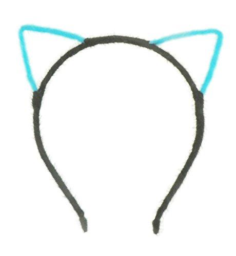 Damen Mädchen Super Niedlicher Fuzzy Zwei Ton Katze Ohren Fancy Kleid Party Schwarz Stirnband