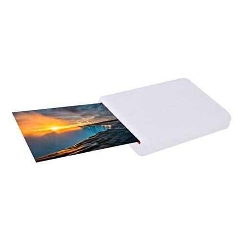 ASHATA Mobiler Fotodrucker, Portable Bluetooth Handydrucker Fotodrucker Zink Tintenfreier Foto-Drucker,Tragbar Mobiler Fotodrucker Drucken ohne Tinte Mini Photo Printer für Android/iOS - Bluetooth Portable Foto-drucker