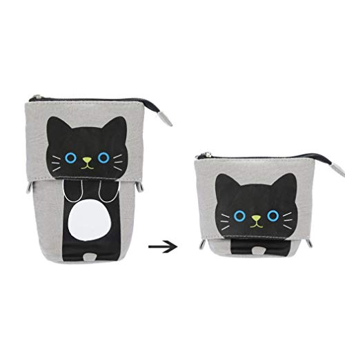 gaddrt Bleistift Fall Box Cartoon Cute Cat Teleskop Pencil-Bag Stationery Box ideal für Schule D