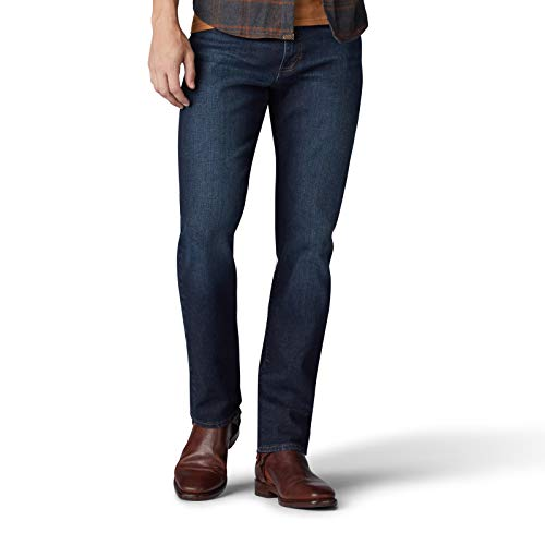 Lee Herren Big & Tall Modern Series Extreme Motion Straight Fit Jeans, nachteule, 48W / 29L -