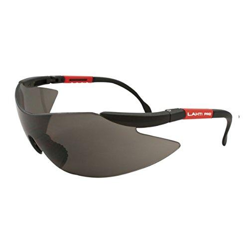 MKK - 19241-003 - Schutzbrille Augenschutz Sicherheits- Arbeits- Sonnenbrille Bügel verstellbar Schwarz mit Blendschutz