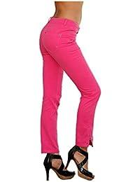 Laura Scott - Jeans - Opaque - Femme Rose Rose bonbon