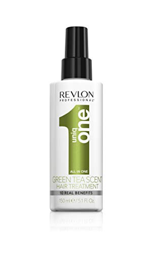 Revlon Professional, Uniq One Green Tea Scent Hair Treatment, trattamento in spray senza risciacquo per capelli al tè verde, 150 ml (etichetta in lingua italiana non garantita)