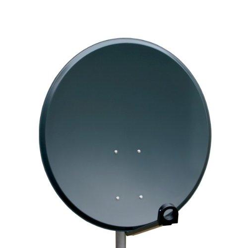 PremiumX PXA80 Satellitenantenne 80 cm ALU in Anthrazit Full HD Digital Sat Schüssel Spiegel Antenne aus Aluminium
