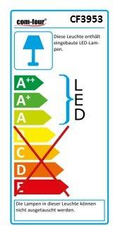COM-FOUR 4er Set blinkender LED Anhänger für Ihr Haustier Sicherheits Licht Lampe für Halsband Katze & Hund - 3