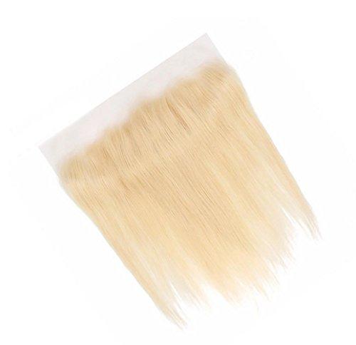 Haar Brasilianisches Glattes Echthaar Echte Haare Aus Spitze 13 * 4 Haar Glattes Haar Licht Goldene Spitze Frontal JMQ , 18inch (Haare, Blonde 18-zoll-puppen)