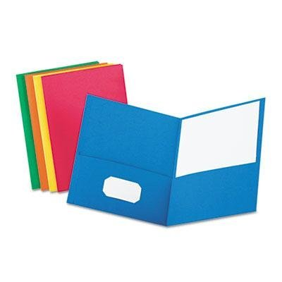 Oxford - Twin-Pocket Folder Embossed Leather Grain Paper Assorted Colors Product Category: Binders & Binding Systems/Report Covers & Pocket Portfolios by Oxford