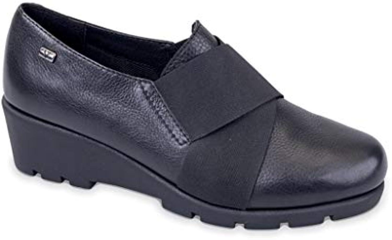 VALLEverde Donna Mocassino Nero 36404 Scarpe in Pelle Autunno Inverno 2019 | Materiali Di Qualità Superiore  | Gentiluomo/Signora Scarpa