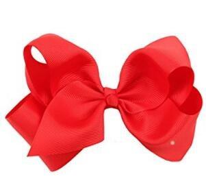 Clip pelo lazo grande niñas rojo rosso Talla:1