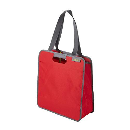 Faltbare Einkaufstasche M Hibiscus Red/Uni 38x17x43cm stabil abwischbar Polyester Home Kollektion Verstauen Reißverschluss umweltfreundlich -