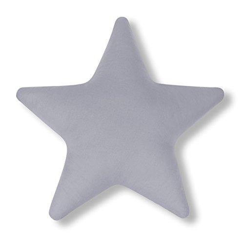 Amilian Kissen Stern Grau Dekokissen Kuschlig Flauschig ca. 60 cm