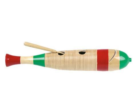 Betzold Musik Mexikanisches Holzguiro Fischform mit Scraper Guiro Musikinstrumente Kinder Schule Kindergarten Musik-Unterricht Musikschule