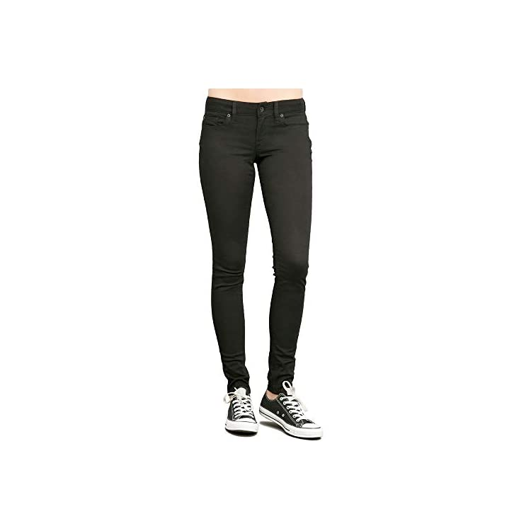 Star and Stripes Black Women's Skinny Jeans, Girls Slim Fit Stretchable Jeans 1