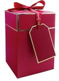 Caja de lujo para regalo de Navidad, roja