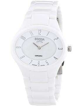 Boccia DAU-Q TIT CER Saphirglas weiß/weiß, Modellnummer 3216-01