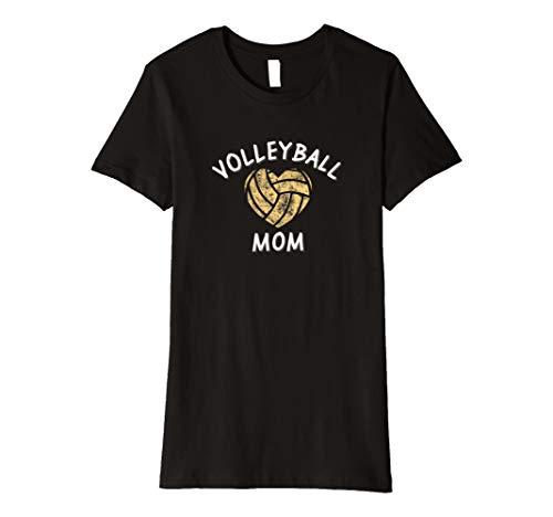 Damen Volleyball Mom I Love Sports Games Athletics T Shirt