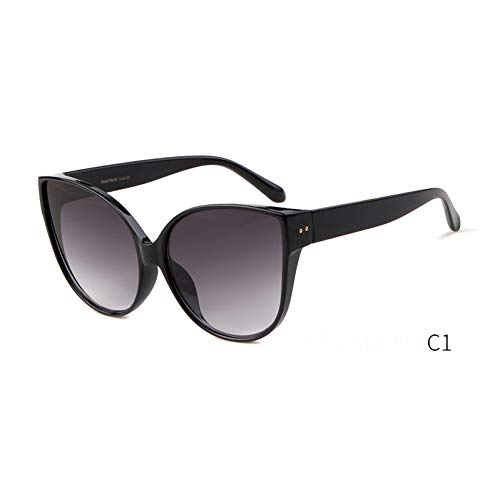 ZRTYJ Sonnenbrille Cat Eye Sonnenbrille Übergroße Damen Markendesigner Vintage Sunnies Pink Top Cateye Sonnenbrille Shades Oculos