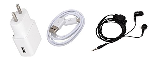 ROBMOB's 2.0 Amp USB Battery Charger & Super Sound 3.5mm Jack Handsfree Compatible for Micromax YU Yureka Plus YU5510