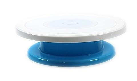 28cm Décoration de gâteaux rotatif tournant glaçage de cuisine écran support vertical bleu