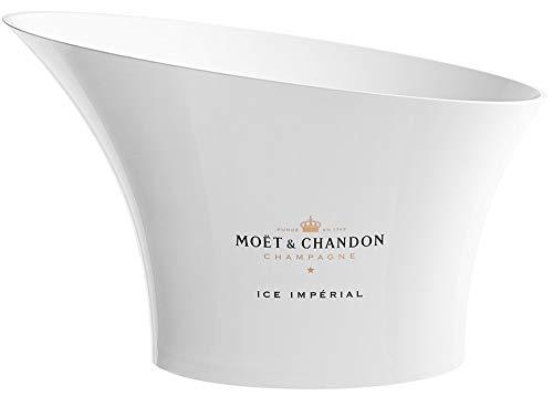 Moët & Chandon Ice Impérial XXL Champagner Kühler Eiskübel Flaschenkühler Champagne Eiswanne (weiß)