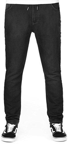 reell Jogger Jeans Pants 120 Black Knit Denim (Black Knit Hose)