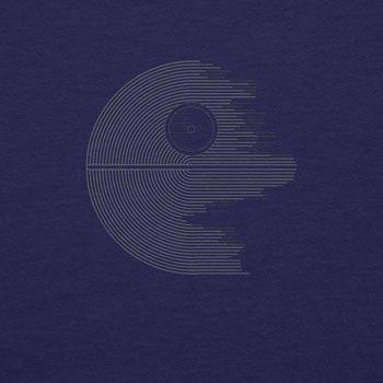 Planet Nerd - Design Star - Herren T-Shirt Dunkelblau