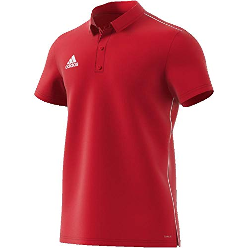 adidas Herren Core 18 Poloshirt, Power Red/White, XXL -