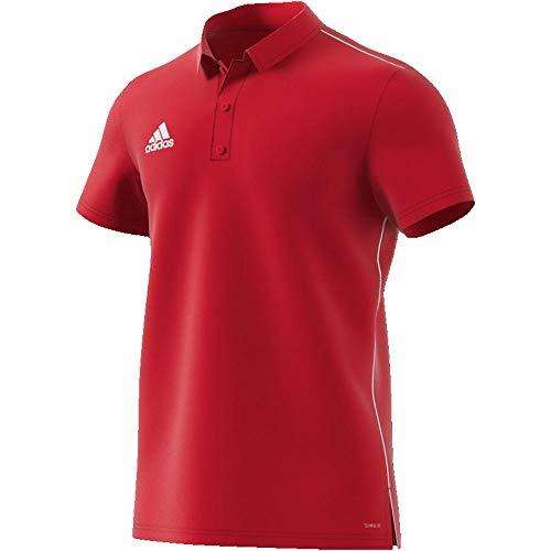 Adidas Herren Polos (adidas Herren CORE18 Polo Shirt, Power red/White, 2XL)
