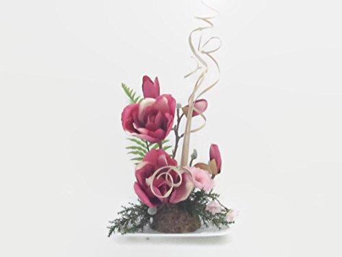 Magnoliengesteck künstliche Blumen Tischgesteck Blumengesteck Seidenblumen Blumendekoration Muttertagsgeschenk