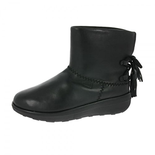 Boot Schuh Mukluk (FitFlop Mukluk Shorty II Boots With Tassels - Black Leather 4 UK)