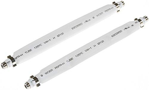 Poppstar 2X 21,5cm SAT Fensterdurchführung (2 mm Fensterdurchführung SAT Kabel flach) Kupplung (F-Stecker), vergoldete Kontakte, weiß
