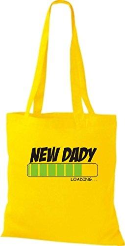 ShirtInStyle Stoffbeutel Baumwolltasche NEW DADY Loading Farbe Pink gelb