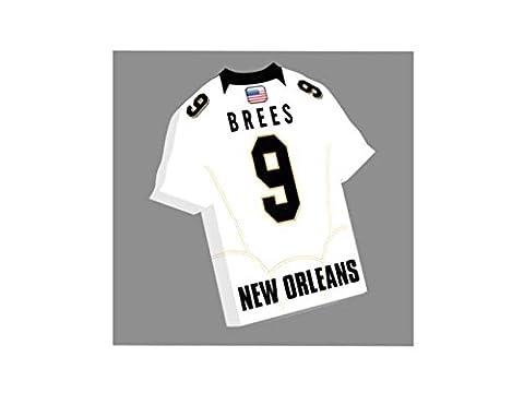 NFL American Football Jersey Magneten in–Sie den Namen, Anzahl und Team Farben, kostenlose Personalisierung. New Orleans Saints NFL (New Orleans Saints Magnet)