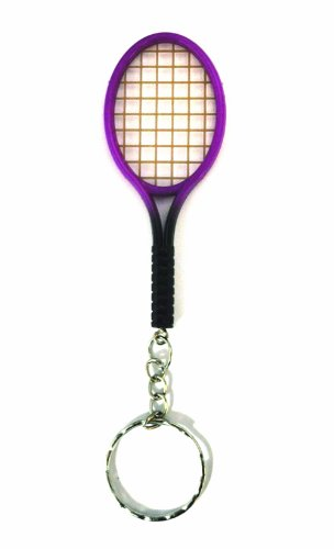 tennis-racket-keyring-novelty-keychain-purple