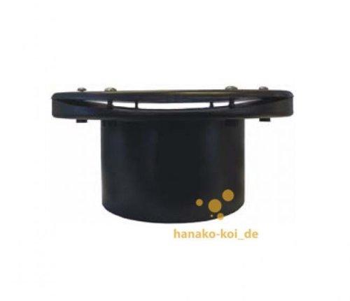 Flansch / Tankdurchführung gekrümmt Ø 110 mm (ABS / schwarz) für Vortex + Fässer