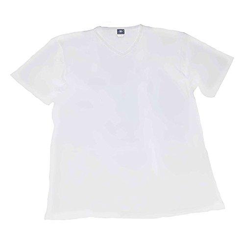 Maglia t-shirt intimo taglie forti uomo scollo a V Maxfort 500 - 3 pezzi - Bianco, 4XL