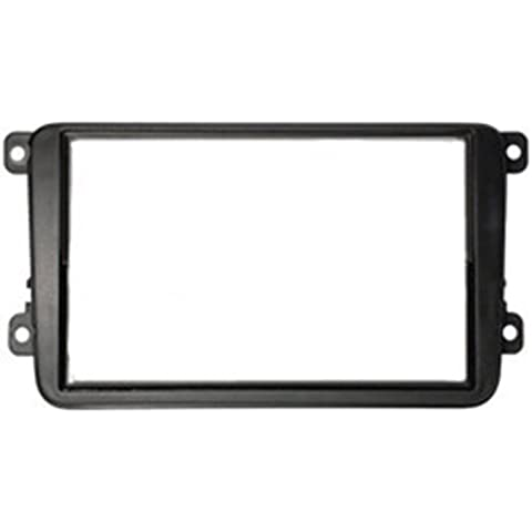 Autoleads DFP-17-03 - Soporte doble DIN de radio para VW Golf V Touran/Skoda, color negro