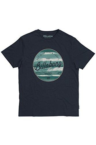 Billabong - Maglietta maniche corte, da uomo, scollo rotondo, tinta unita, taglia unica Blu (Indigo) Small