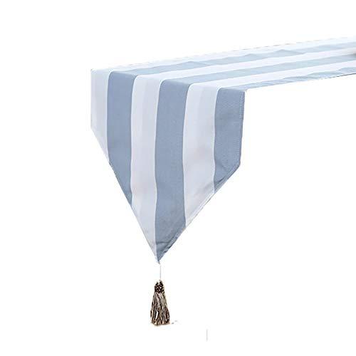 Chemin de table Triangle Table Runner, longue nappe pour Family Party Mat anniversaire mariage fournitures café Tapis Hôtel Literie (Couleur : Bleu, taille : 30×200cm)