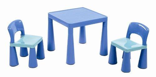 Liberty House - Juego de Mesa y 2 sillas Infantiles, Cloro Azul