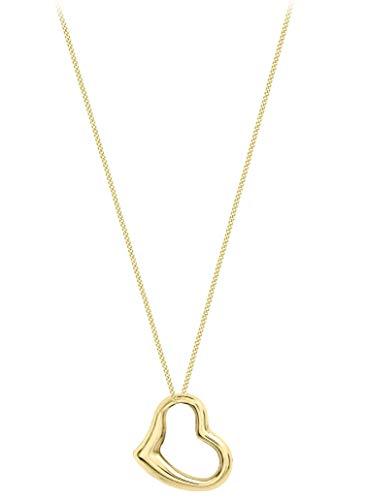 Carissima Gold Damen - Halskette 9 k (375) Rundschliff Diamant 1.40.7114