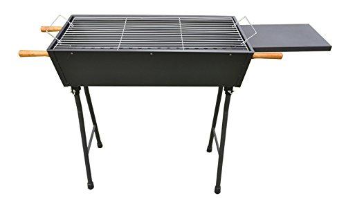 HQ Mangal ARARAT BLACK 1,2mm mit klappbaren Füßen (LBH 70x33x81 cm), Holzkohlegrill Schaschlikgrill