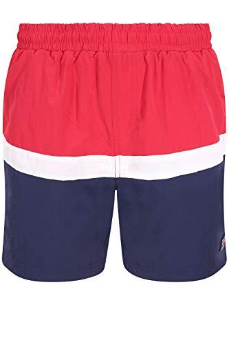 Fila Hombre Peter Color Block Swimshorts, Azul, XL