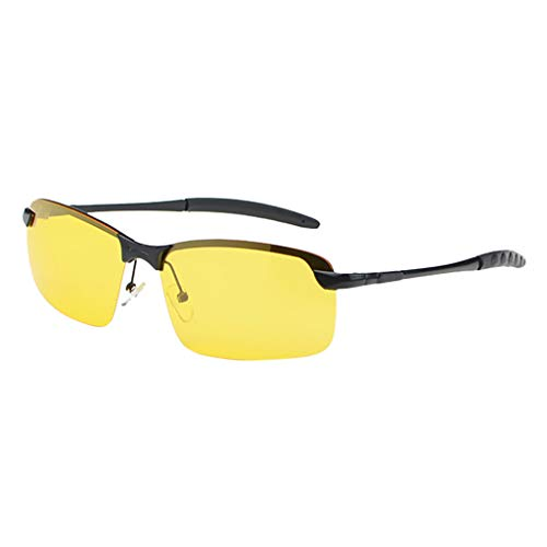 Lenfesh Nachtsichtgläser Vision Blendschutztreiber Polarized UV400 Fit Over Metall Gestell Outdoor-Brille