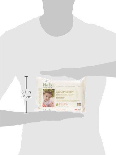Naty by Nature Babycare Öko Feuchttücher Unparfümiert, 12er Pack (12 x 56 Stück) - 7