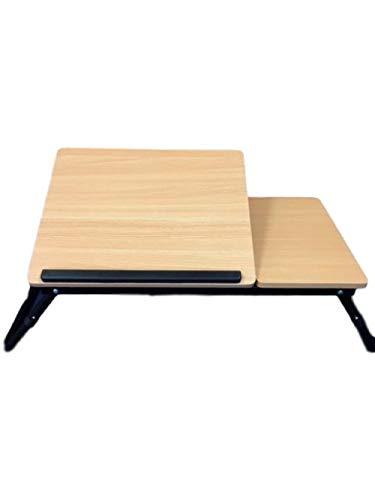 Mesa de Madera para Ordenador portátil, Plegable, Bandeja de Escritorio Ajustable