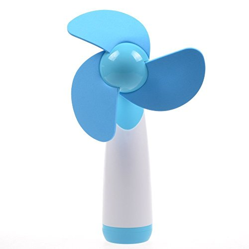 LingsFire® Handheld Mini Fan Super Mute AA Battery Operated Cooling Fan Electric Personal Fans for Home and Travel (Blue)